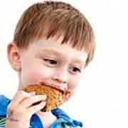 Eating Biscuit Art Print