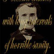 Edgar Allan Poe 2 Art Print