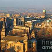 Edinburgh On A Winter's Day Art Print