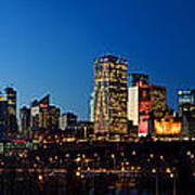 Edmonton Skyline Panorama 2 Art Print