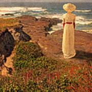 Edwardian Lady By The Sea Art Print