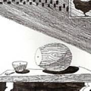 Egg Drawing 019613 Art Print