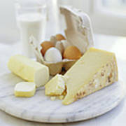 Eggs And Cheese Art Print by David Munns