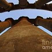 Egypt Luxor Pillars Art Print