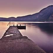 Eidfjord At Sunset Art Print by Jesus Villalba