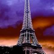 Eiffel Storm Art Print