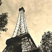 Eiffel Tower At Dusk Art Print