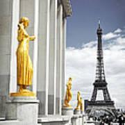 Eiffel Tower From Trocadero Art Print by Elena Elisseeva