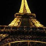 Eiffel Tower In Lights Art Print