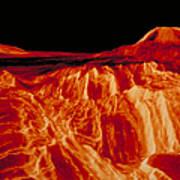 Eistla Regio Of Venus Art Print