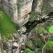 El Tayo River Gorge In Ronda Art Print