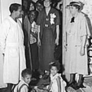 Eleanor Roosevelt Visiting A Wpa Works Art Print
