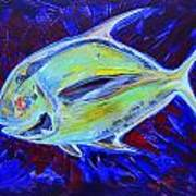 Electric Pompano Art Print