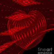 Electric Red Heart 3 Art Print
