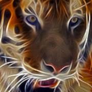 Electric Tiger Art Print