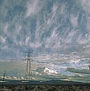 Electric Transmission Lines Art Print