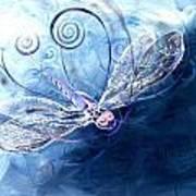 Electrified Dragonfly Art Print