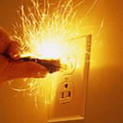 Electrocution Hazard Art Print