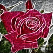 Electrostatic Rose Art Print