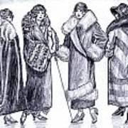 Elegant Coats Art Print