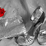 Elegant Night Out In Selective Color Art Print by Mark J Seefeldt