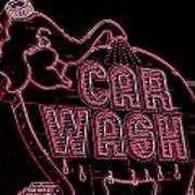 Elephant Car Wash Neon Art Print