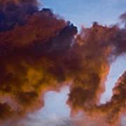 Elephant Cloud Art Print