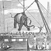 Elephant Hoist, 1858 Art Print