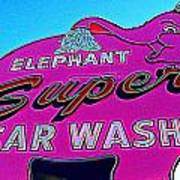 Elephant Super Car Wash Boost Art Print