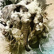Elephants Gone Wild Art Print