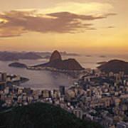 Elevated View Of Rio De Janeiro Art Print