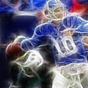Eli Manning Ny Giants Art Print by Paul Ward
