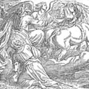 Elijahs Ascent To Heaven Art Print