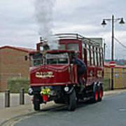 Elizabeth - Steam Bus At Whitby Art Print