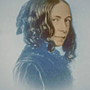 Elizabeth Barrett Browning, English Poet Art Print