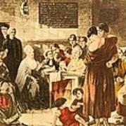 Elizabeth Fry 1780-1845 Was An English Print by Everett