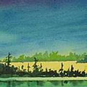 Elk Island Sundown 2 Art Print