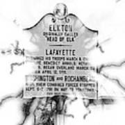 Elkton Head Of Elk  Art Print by Lorraine Louwerse