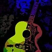 Elvis Gibson J200 Guitar Art Print