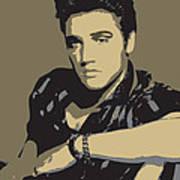 Elvis Presley - Pop Art Portrait Art Print