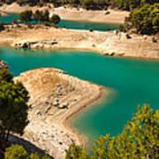 Emerald Lake I. El Chorro. Spain Art Print