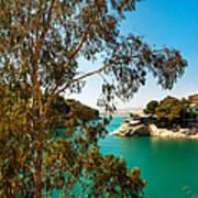Emerald Lake With Duke House I. El Chorro. Spain Art Print