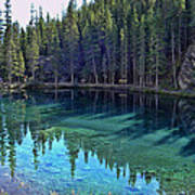 Emerald Mountain Pond Art Print