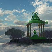 Emerald Throne Art Print
