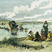Emigrants In Nebraska, 1859 Art Print by Granger