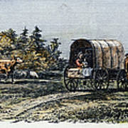 Emigrants To Ohio, 1805 Art Print