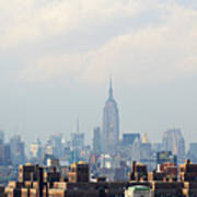 Empire State Building Seen From Lower Manhattan Art Print by Ryan McVay