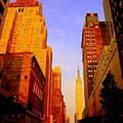 Empire State Building Sunset Art Print