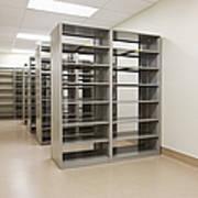 Empty Metal Shelves Art Print