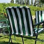 Empty Seats On Garden Lawn Art Print